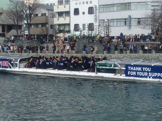 徳島の魅力 徳島ヴォルティス、J1昇格記念水上パレード