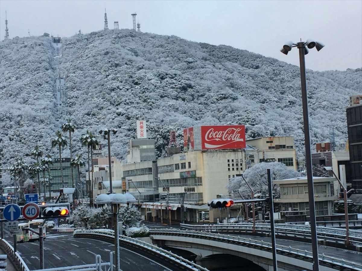 徳島市 雪 2018年1月11日