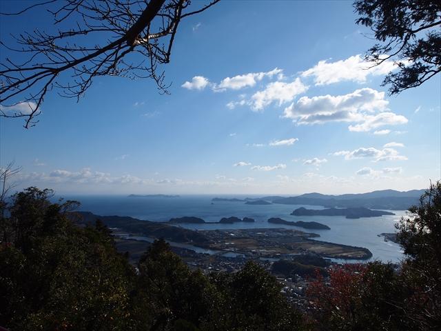 徳島県 阿南市 津峯山参詣リフト 山頂 見晴らし