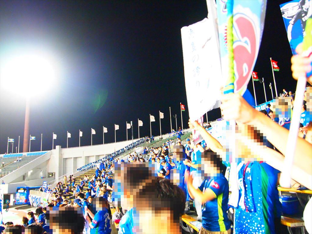徳島ヴォルティス ゴール裏 スタンド風景