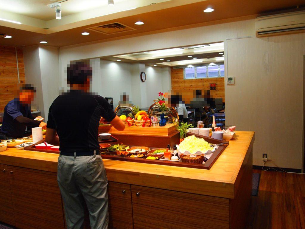 ホテルたいよう農園 赤字食堂 バイキング形式朝食 お客様