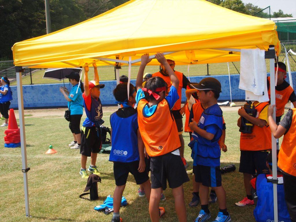 USFスポーツキャンプin徳島 まぜのおか 小学生 ボランティア サッカー 給水