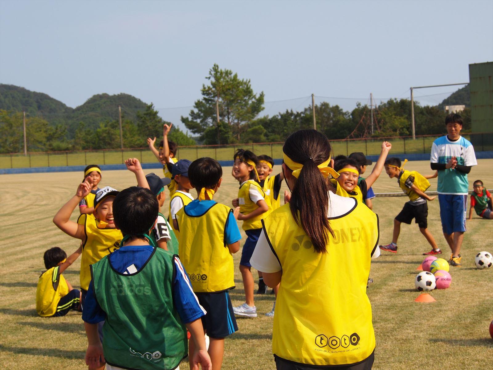 USFスポーツキャンプin徳島 USF代表理事 諸橋寛子 まぜのおか 小学生 ボランティア