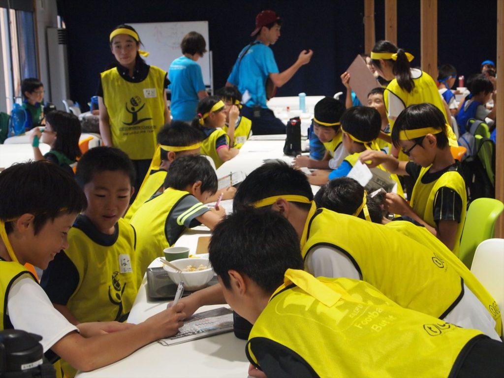 USFスポーツキャンプin徳島 まぜのおか 小学生 ボランティア 食事