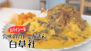 徳島県穴吹 カレー屋 スパイシー 白草社