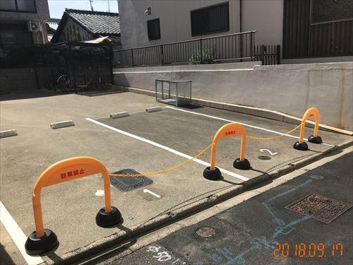 akippa 駐車場 無断駐車防止策 アーチスタンド