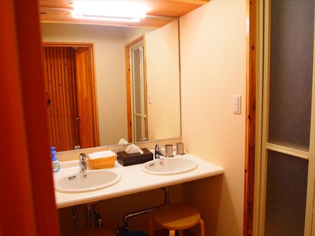 京都 一棟貸し 家族連れ 幼児OK オススメ 宿 西陣の宿 洗面所