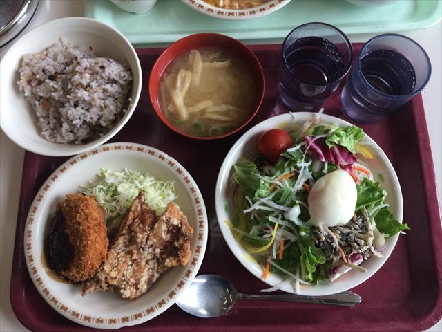 徳島県庁 食堂 食券 ご飯自由 雑穀米 ランチ画像