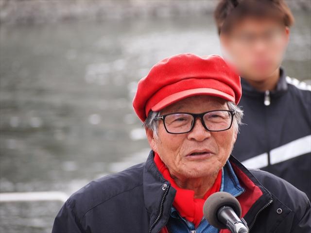 2019年 第25回新町川寒中水泳 新町川を守る会 中村さん