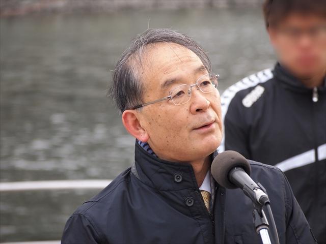 2019年 第25回新町川寒中水泳 遠藤徳島市長は欠席 徳島市副市長