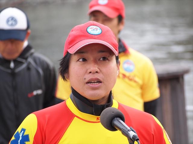 2019年 第25回新町川寒中水泳 徳島ライフセービングクラブ代表 源純夏
