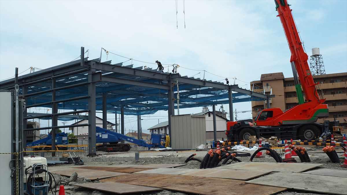 ドン・キホーテ徳島応神店 パーラーグランド跡地 建設中画像