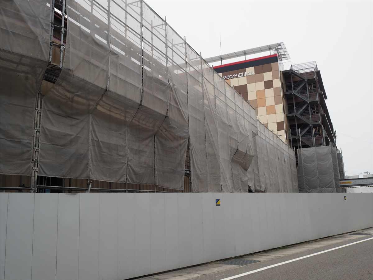 ドン・キホーテ徳島応神店 パーラーグランド跡地 建設中画像 売り場増設 2019年7月5日時点