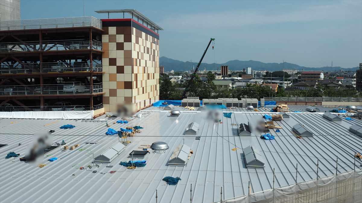 ドン・キホーテ徳島応神店 パーラーグランド跡地 建設中画像 売り場増設 2019年7月16日時点