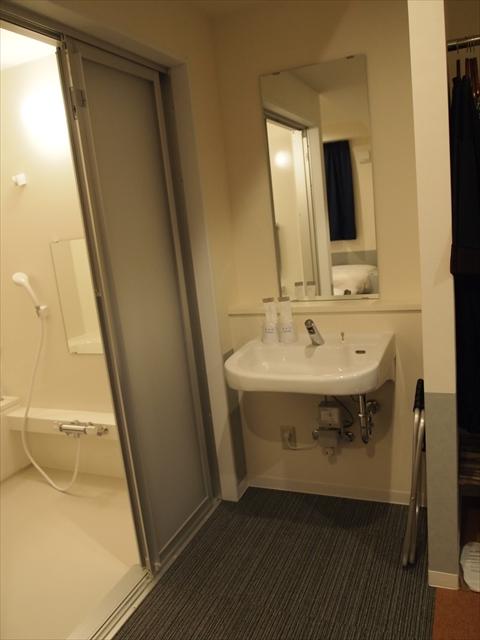 松山市 ホテルたいよう農園二番町 バリヤフリールーム 洗面所