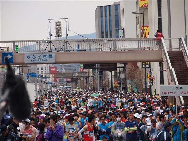 とくしまマラソン2019 スタート前