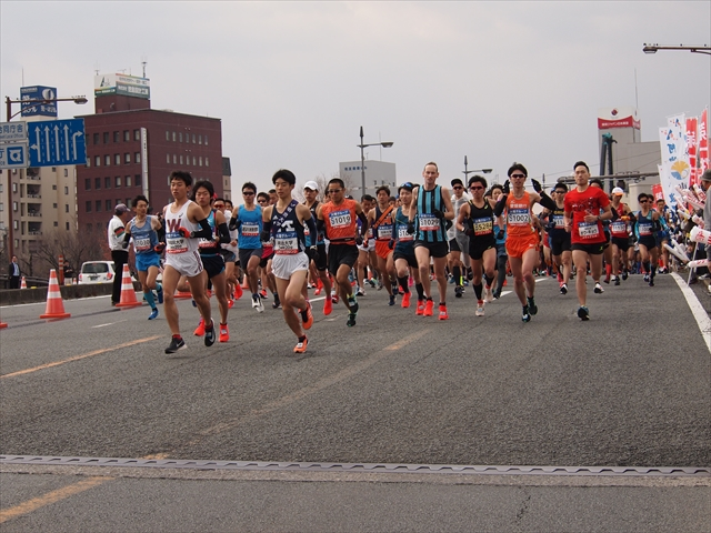 とくしまマラソン2019 スタート