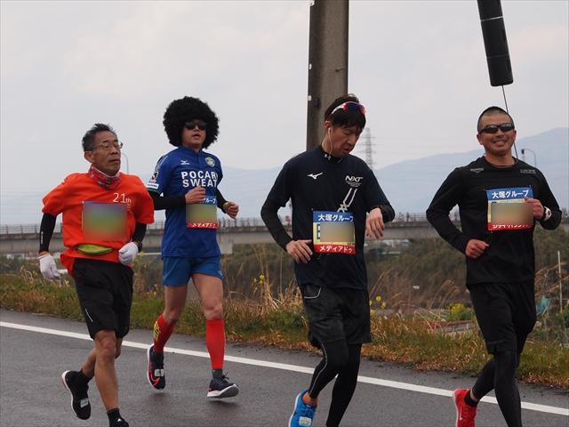 徳島ヴォルティス とくしまマラソン2019 Jリーグユニ勢