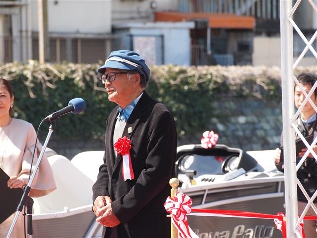 「新町川を守る会」理事長、中村英雄さん