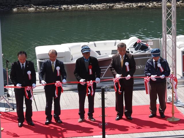 「新町川を守る会」 ひょうたん島クルーズ 進水式 テープカット