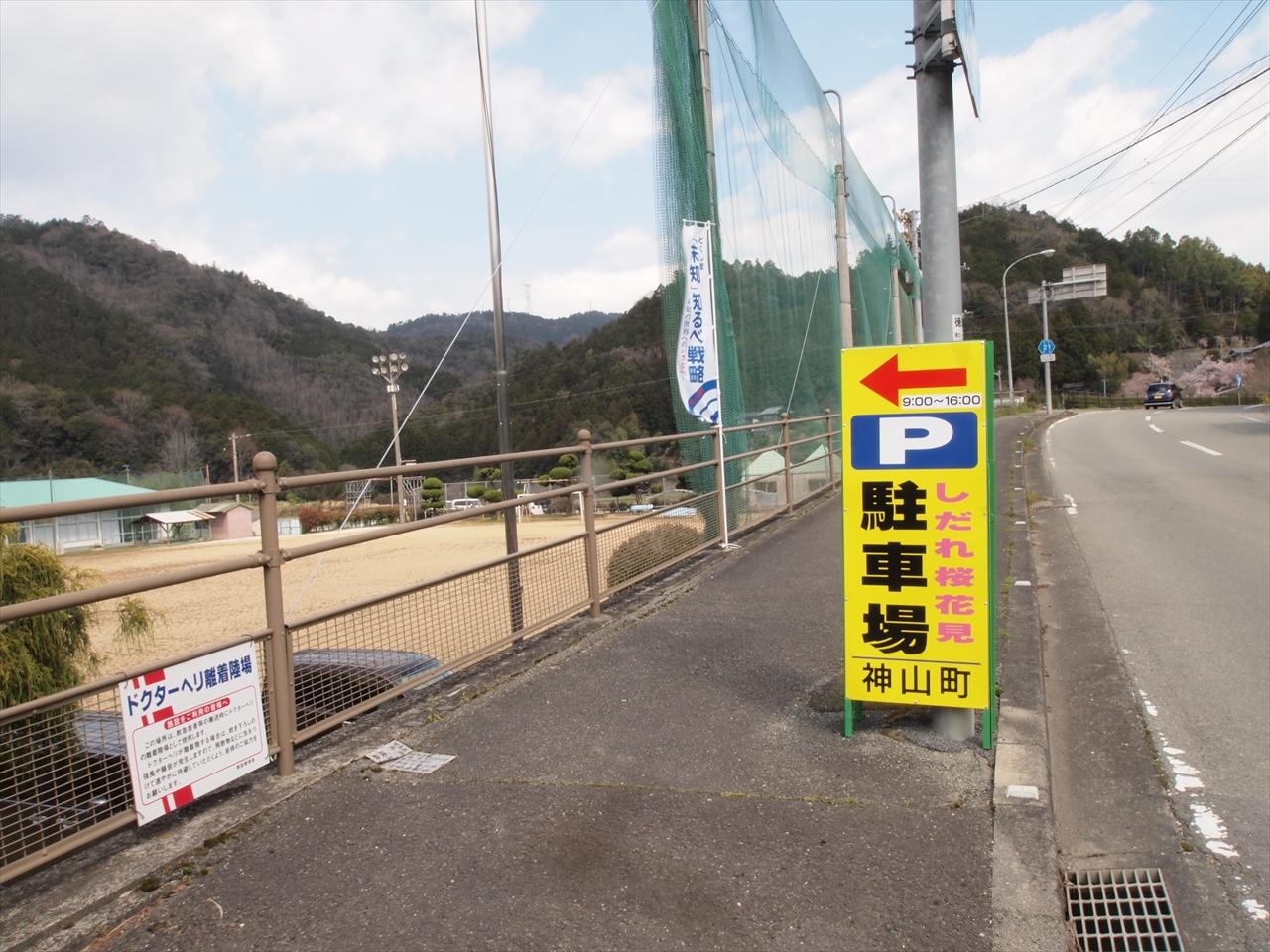 徳島県神山町鬼籠野中分 さくら街道 国道438号線
