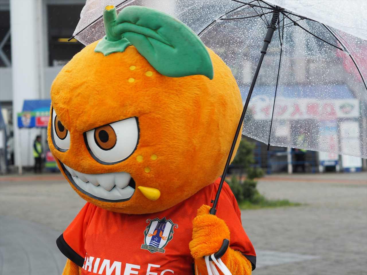オ~レくん 四国ダービー2019 ヴォルタくんステージ中止 2019年4月14日 徳島ヴォルティス 愛媛FC