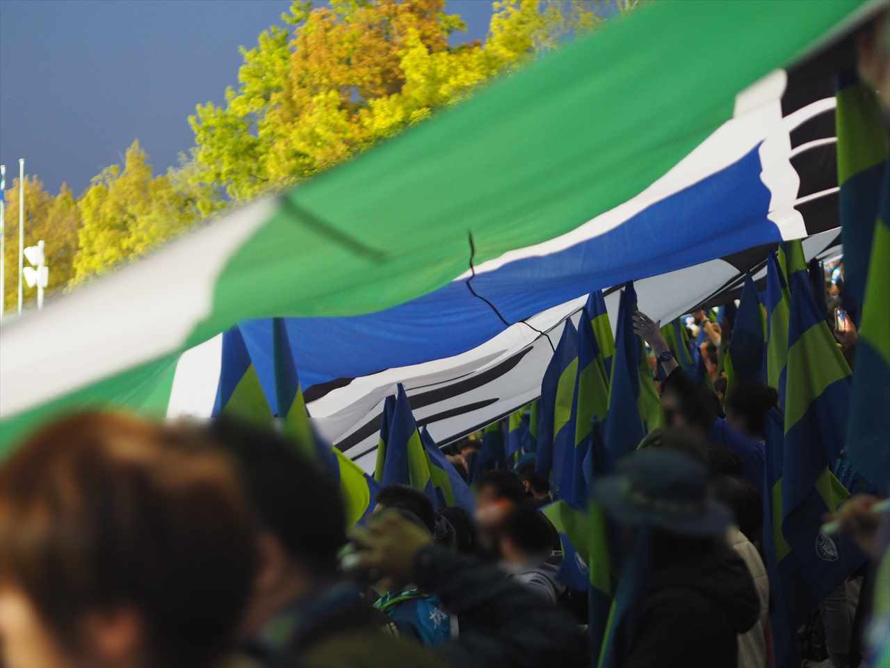 2019年4月20日 徳島ヴォルティス ファジアーノ岡山 シティライトスタジアム ビッグフラッグ