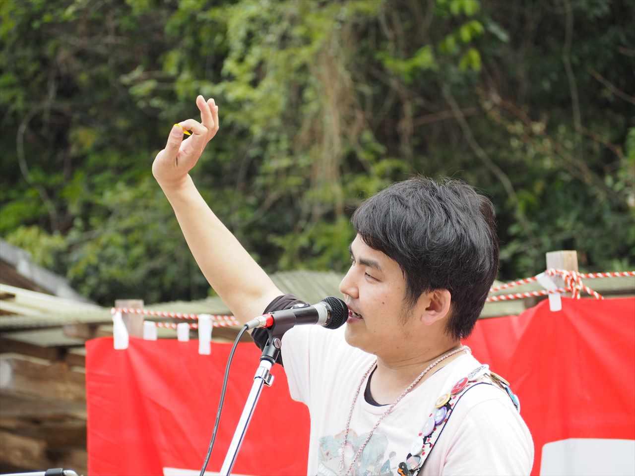 田中いっぺい 第7回いろは手作り市 石井町 童学寺