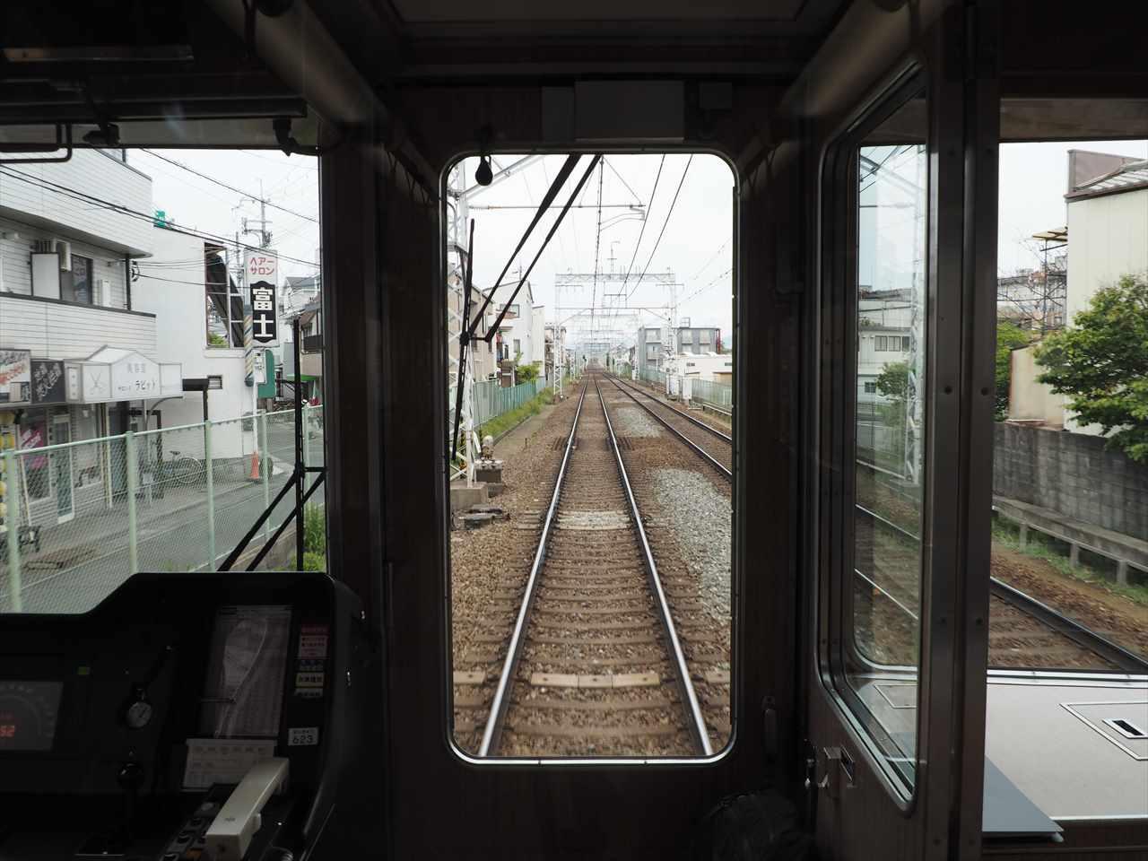 阪急電車 先頭車両 子どもでも見える高さ