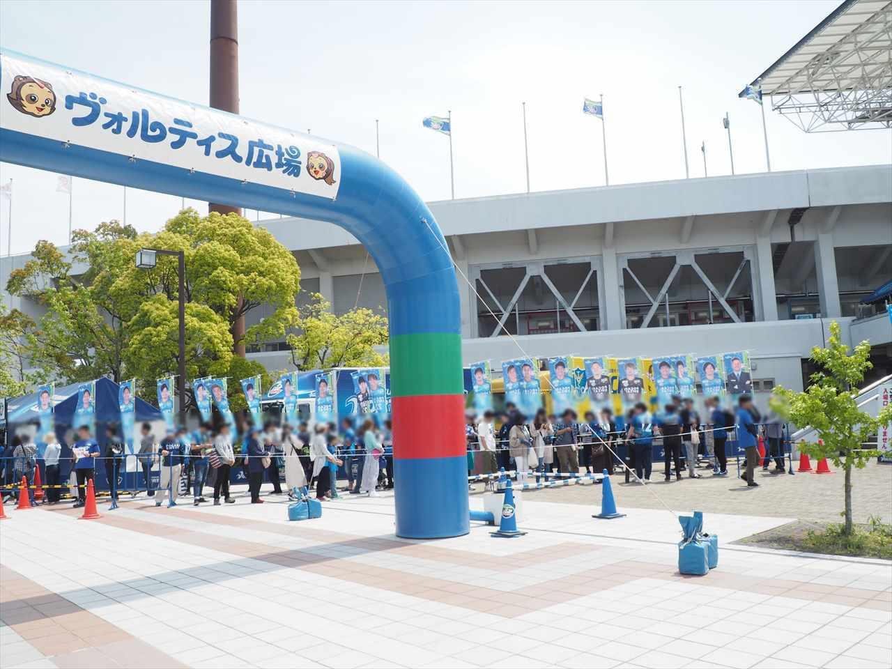 2019年5月5日 徳島ヴォルティス 栃木SC ヴォルティスショップ 行列