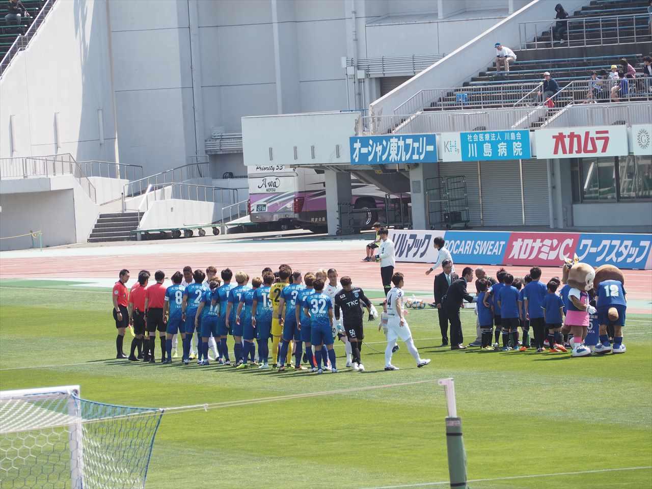 2019年5月5日 徳島ヴォルティス 栃木SC 試合前握手