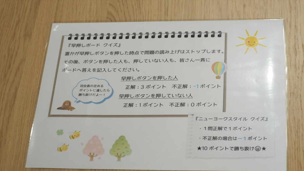 徳島 クイズ 徳島駅前 早押しクイズ専門店 ここはれ 早押しボードクイズ