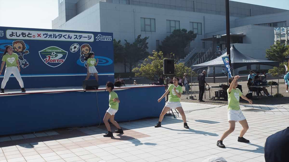 徳島ヴォルティス ジェフ千葉 吉野川市民デー ときめきキッズ吉野川 ダンス