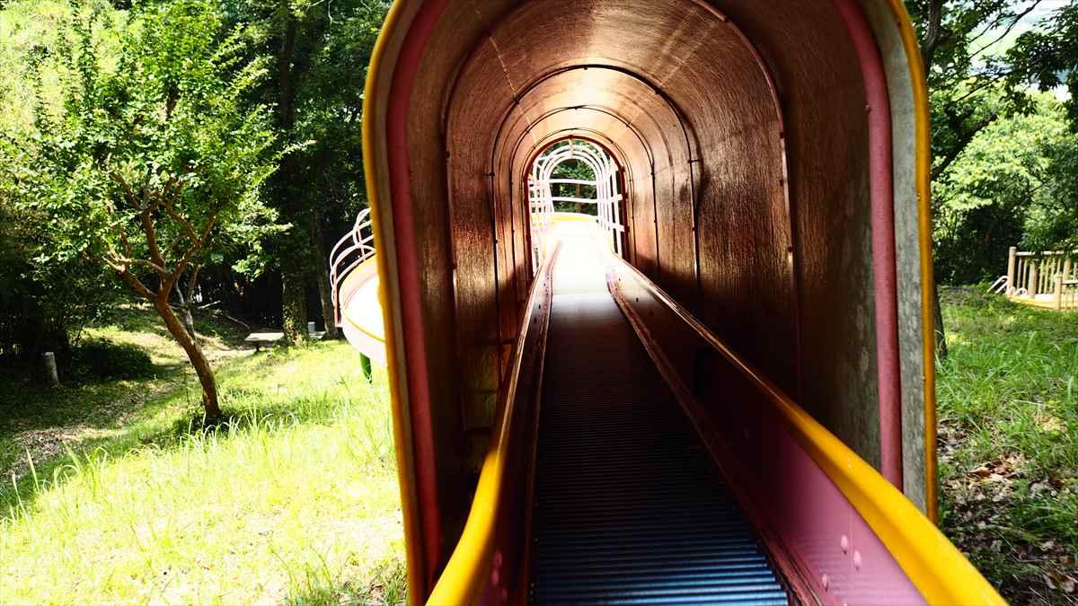 穴吹川 ふれあい広場 美馬市 ローラー滑り台