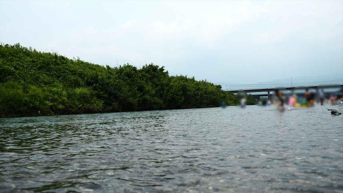 穴吹川 ふれあい広場 水 綺麗