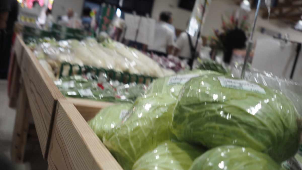 農産物直売所「えがお」 鳴門大津 JA大津松茂 野菜売り場