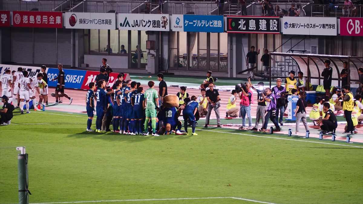 徳島ヴォルティスvs琉球FC 試合前記念撮影