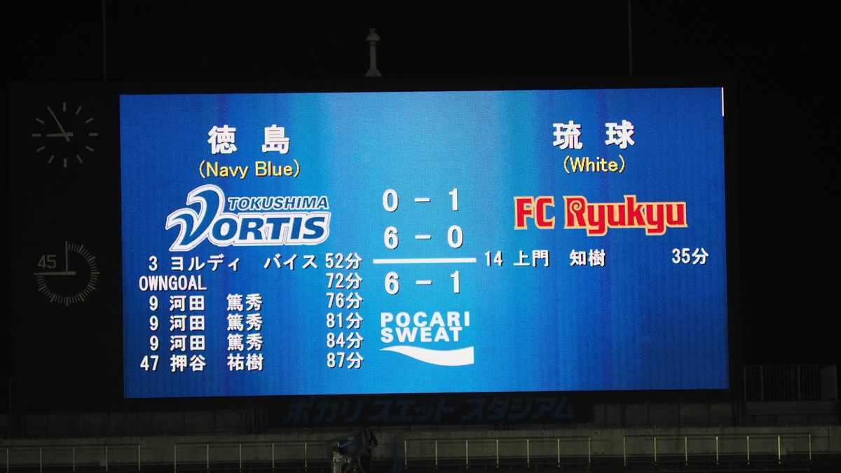 徳島ヴォルティスvs琉球FC 6-1