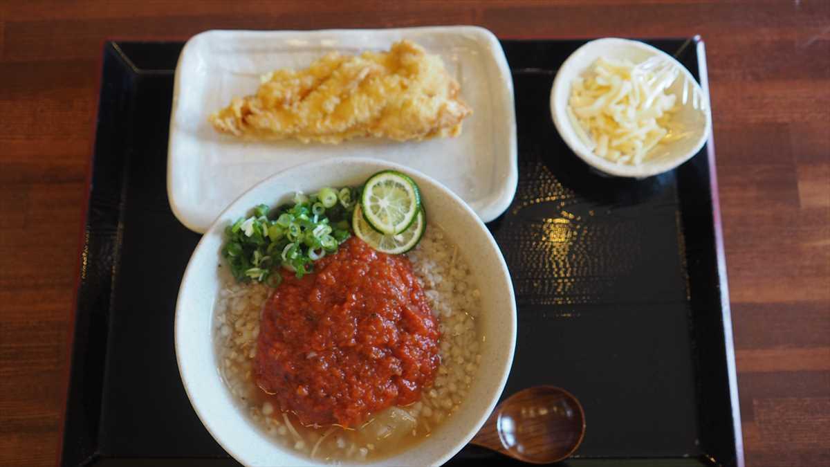 そばごめ汁 そばごめ雑炊 そばごめ屋  徳島市中洲 ランチ 朝食