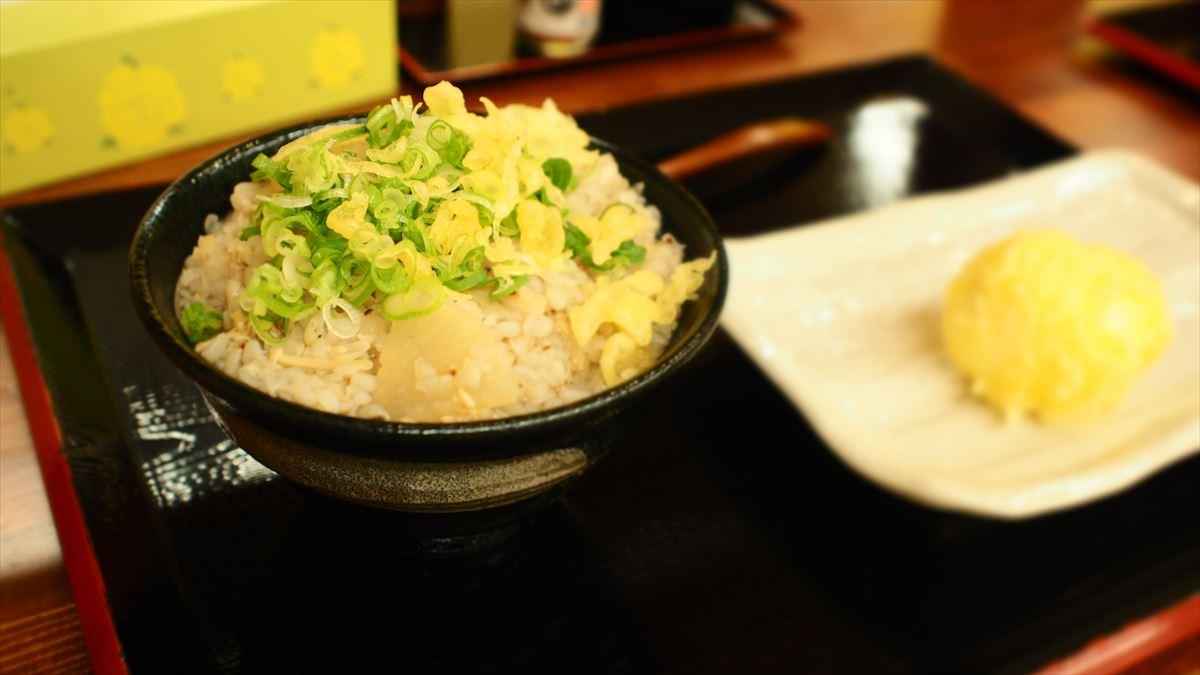 そばごめ汁 そばごめ雑炊 そばごめ屋  徳島市中洲 ランチ 朝食 そばごめ丼