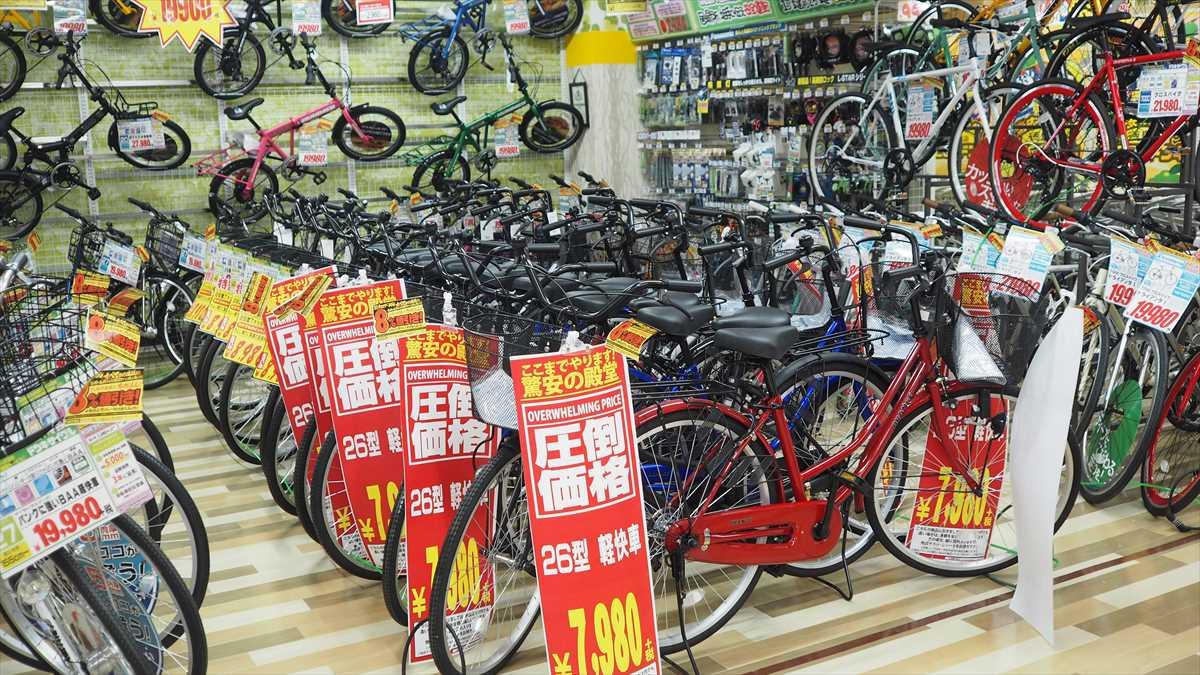 MEGAドン・キホーテ徳島店 自転車売り場