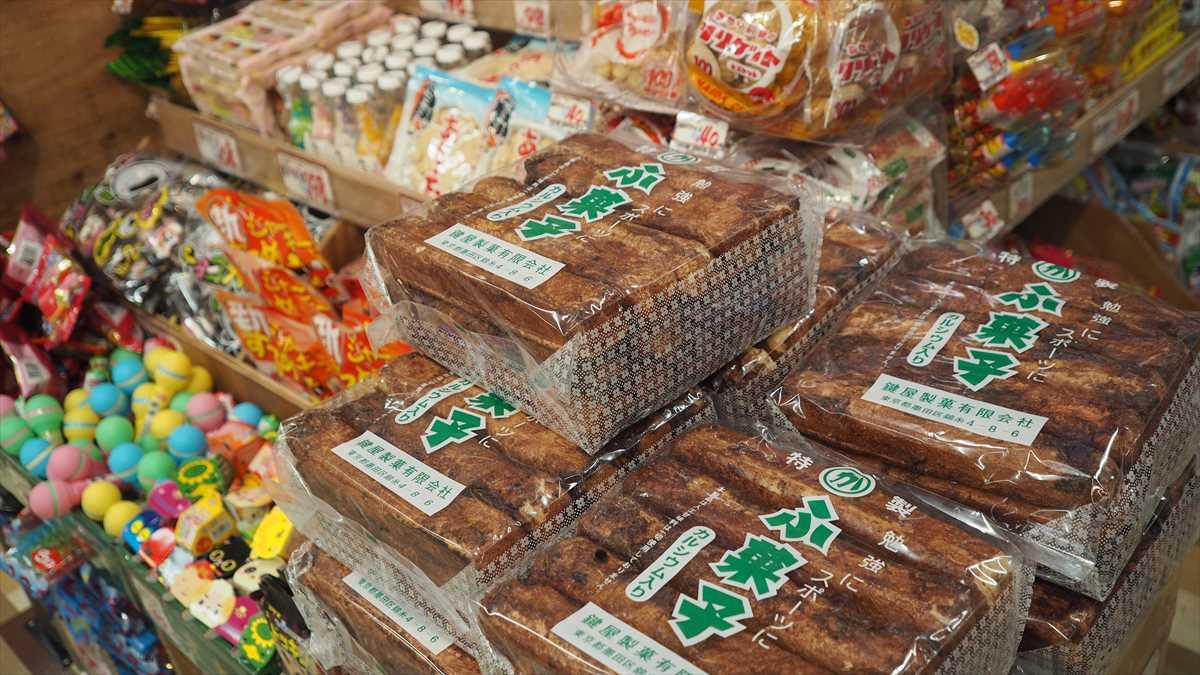 MEGAドン・キホーテ徳島店 お菓子コーナー 麩菓子