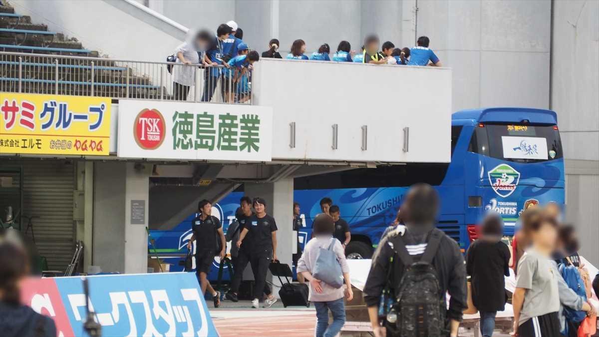 徳島ヴォルティスvsツエーゲン金沢 選手バス 到着
