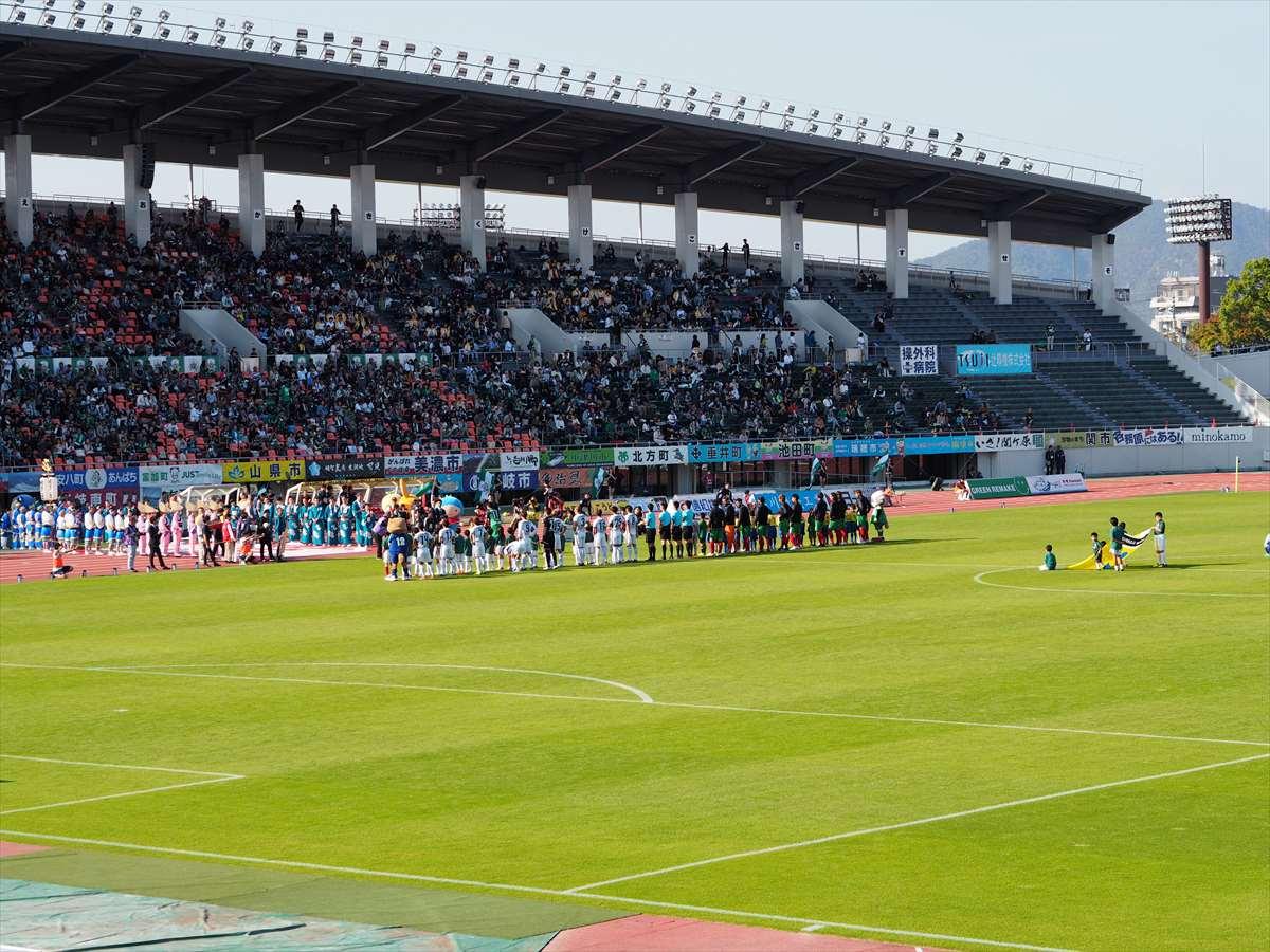 FC岐阜vs徳島ヴォルティス J2リーグ 第39節 2019/11/2 整列