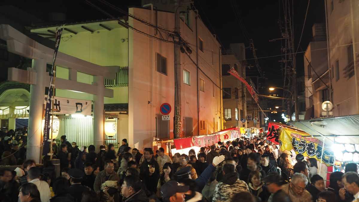徳島 えびす神社 事代主神社 おいべっさん 混雑