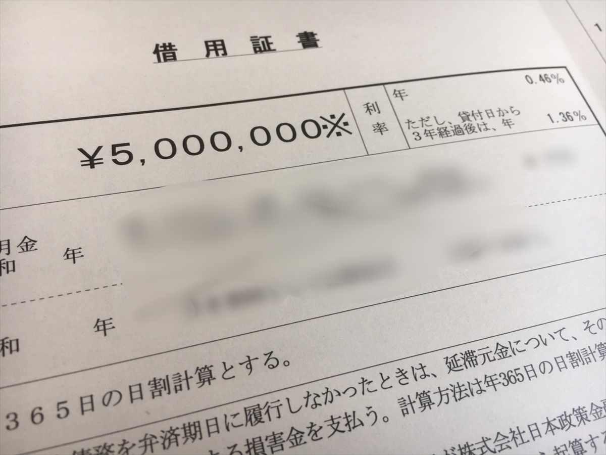 日本政策金融公庫 新型コロナウイルス感染症特別貸付 借用証書