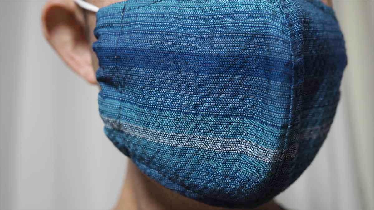 婦久や 阿波しじら織マスク