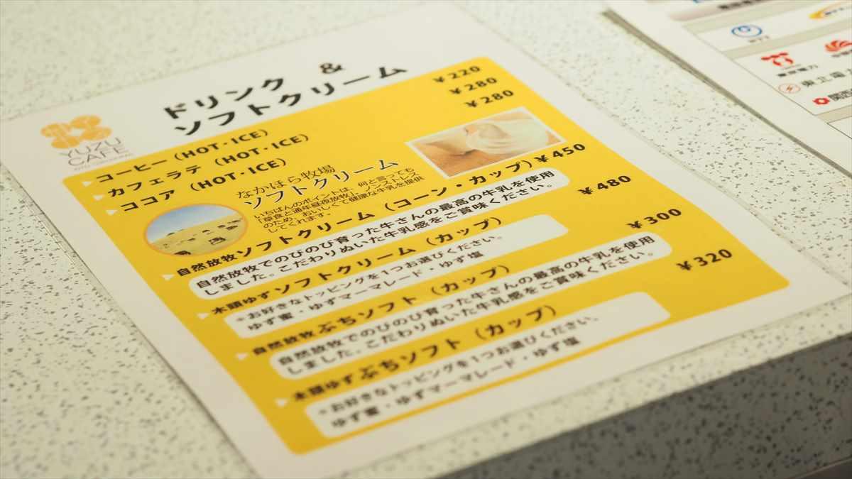 ソフトクリーム 未来コンビニ 徳島県那賀町木頭 4 PARK CAFE KITO