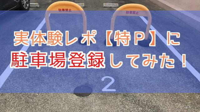 特P オーナー 駐車場登録 実際 実体験